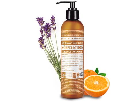 Dr. Bronners Bio Body Lotion - Orange/Lavendel 240ml