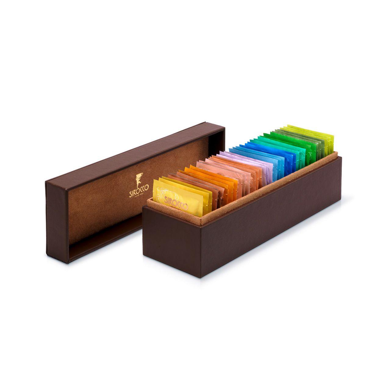 Sirocco Präsentationsbox klein aus Kunstleder