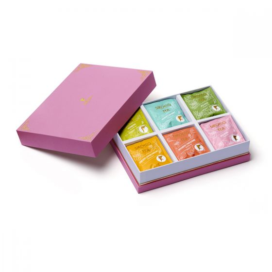 Sirocco Geschenkbox «Kräuter- & Früchtetee» pink