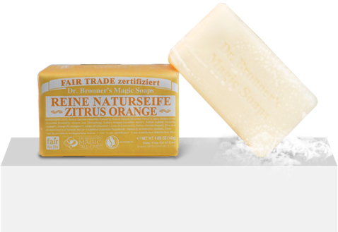 Dr. Bronners Bio Festseife - Zitrone/Orange 140g