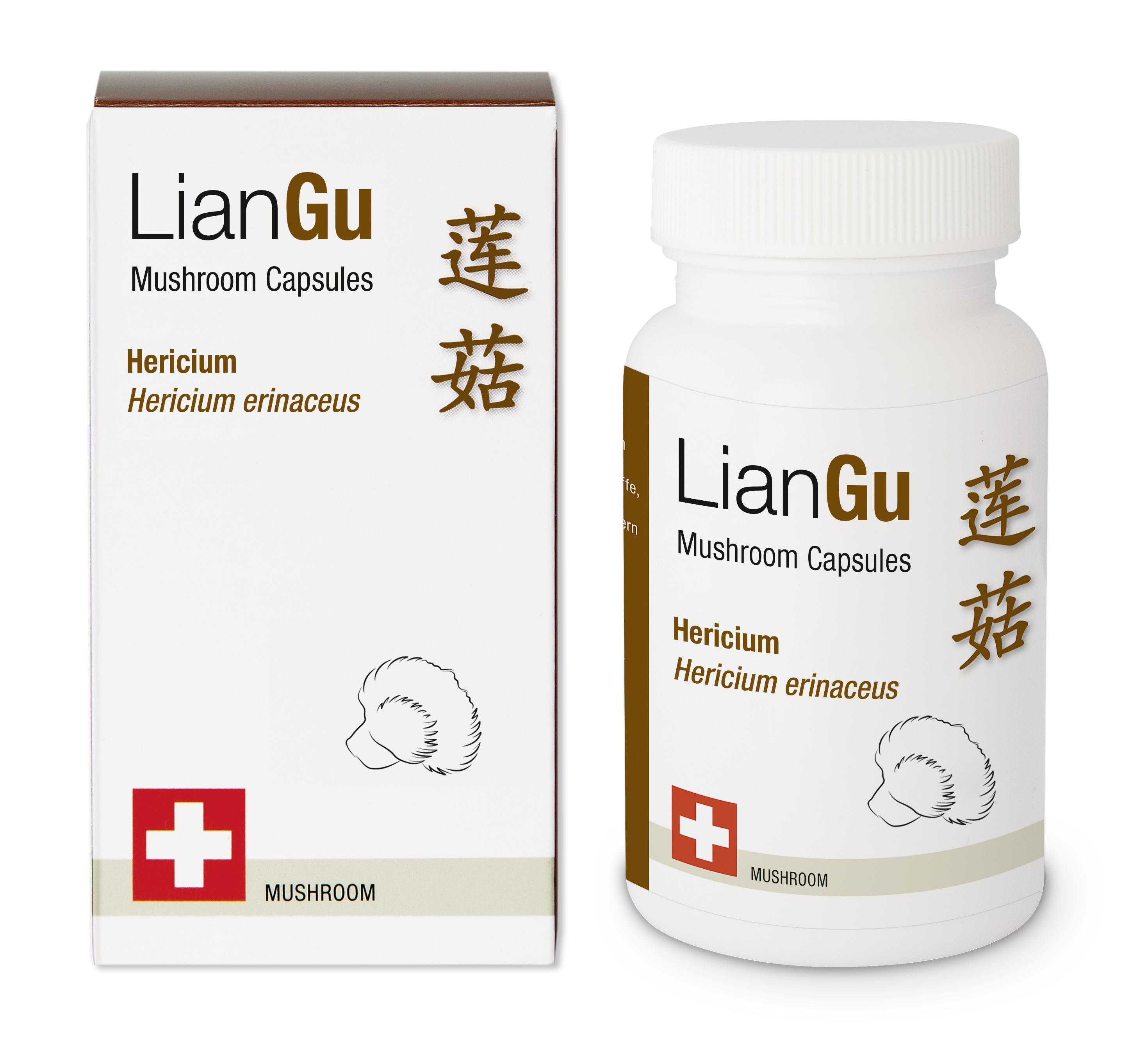 LIANGU Hericium Bio Mushrooms Kaps Ds 180 Stk